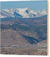 North Boulder Colorado Front Range View Wood Print