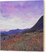 North Canol Road Near Macmillian Pass Wood Print