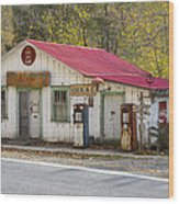 North Carolina Country Store And Gas Station Wood Print