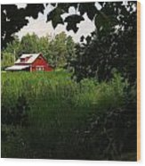 North Carolina Farm Wood Print