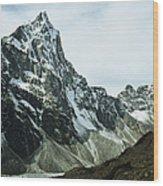 North Face Of Cholatse Peak Towers Wood Print