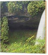 North Falls At Silver Falls Wood Print