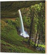 North Falls Cavern Wood Print