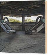 North Redoubt Cannons Wood Print