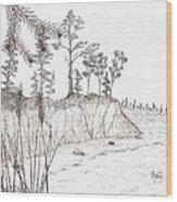North Shore Memory... - Sketch Wood Print