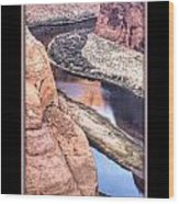 North Side Of Horseshoe Bend Wood Print