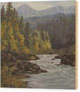 North Umpqua Autumn Wood Print