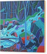 North Woods River 2 Wood Print