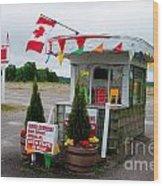 North York Drive-in Box Office Wood Print