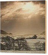 North Yorkshire, England Sun Shining Wood Print by John Short