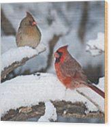 Northern Cardinal Pair 4284 2 Wood Print