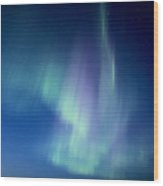 Northern Lights Over Canadian Lake Wood Print