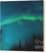 Northern Magic Wood Print by Priska Wettstein