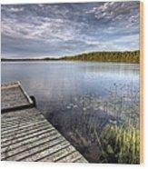 Northern Saskatchewan Lake Wood Print