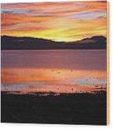Northshore Sunrise Tahoe Wood Print
