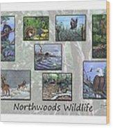 Northwoods Wildlife Wood Print