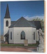 Norwegian Church Cardiff Bay 2 Wood Print