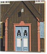 Norwegian Wooden Facade Wood Print