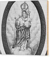 Nossa Senhora Da Paz Wood Print