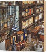 Nostalgia  Pharmacy Wood Print