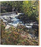 Not Buttermilk Falls Wood Print