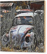 Not Herbie The Love Bug Wood Print