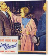 Nothing Sacred, Fredric March, Carole Wood Print