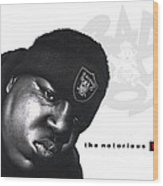 Notorious B.i.g Wood Print by Lee Appleby