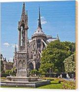 Notre Dame Cathedral Backside Wood Print
