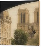 Notre Dame Cathedral Viewed Wood Print