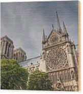 Notre Dame De Paris Wood Print by Jennifer Ancker