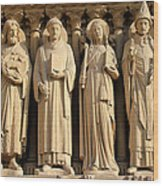 Notre Dame Details 1 Wood Print