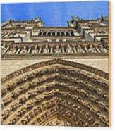 Notre Dame Details 7 Wood Print