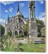 Notre Dame Gardens Wood Print