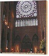 Notre Dame Votive Candles Wood Print