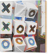 Noughts And Crosses Wood Print
