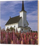Nova Scotia Church Wood Print
