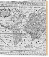 Nova Totius Terrarum Orbis Geographica Ac Hydrographica Tabula Wood Print