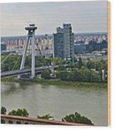 Novy Most Bridge - Bratislava Wood Print