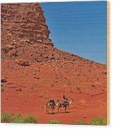 Nubian Camel Rider Wood Print by Tony Beck