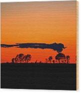 Nuclear Clouds Wood Print by Dan Crosby