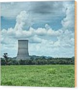 Nuclear Cooling Tower Wood Print