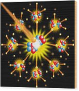 Nuclear Fission Wood Print by David Nicholls