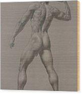 Nude-8 Wood Print by Valeriy Mavlo