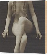 Nude Girl 1915 Wood Print