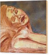 Nude Lady In Repose Wood Print