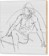 Nude-male-drawings-13 Wood Print