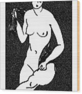 Nude Sketch 12 Wood Print