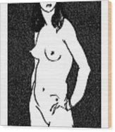 Nude Sketch 17 Wood Print