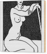Nude Sketch 29 Wood Print by Leonid Petrushin